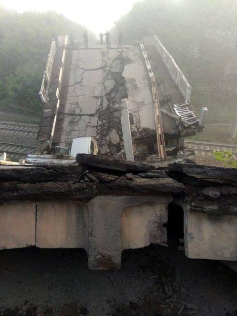В 'ЛНР' взорван стратегический мост - фото 126235