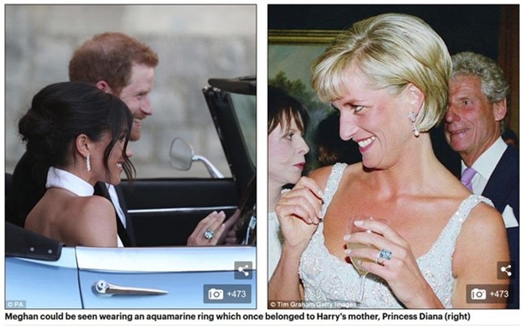 Принц Гарри подарил Меган Маркл кольцо своей матери - фото 126074
