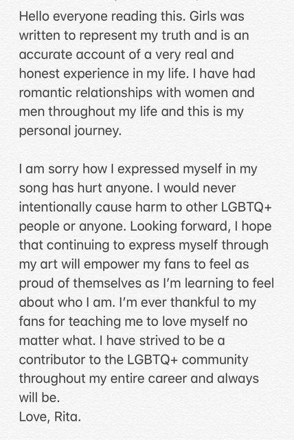 Рита Ора извинилась за текст своей новой песни - фото 124996