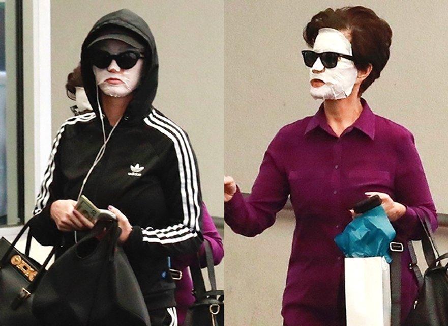 Кэти Перри прогулялась по улицам Беверли-Хиллз в маске для лица - фото 125365