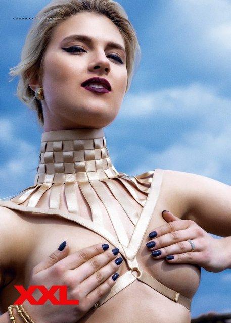 Латекс и кожа: Лучшая фехтовальщица Украины оголилась для журнала XXL (фото) - фото 123095