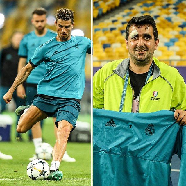 Лига чемпионов: Роналду попал мячом в оператора во время тренировки на НСК Олимпийском - фото 127427