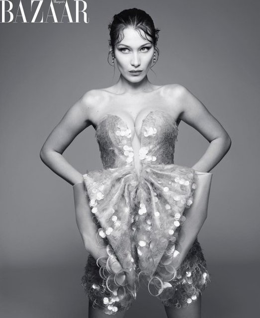 Белла Хадид появилась на обложке модного глянца - фото 125393
