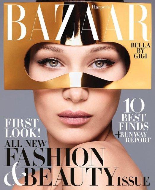 Белла Хадид появилась на обложке модного глянца - фото 125392