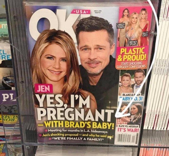 Дженнифер Энистон ждет ребенка от Брэда Питта - СМИ - фото 129472