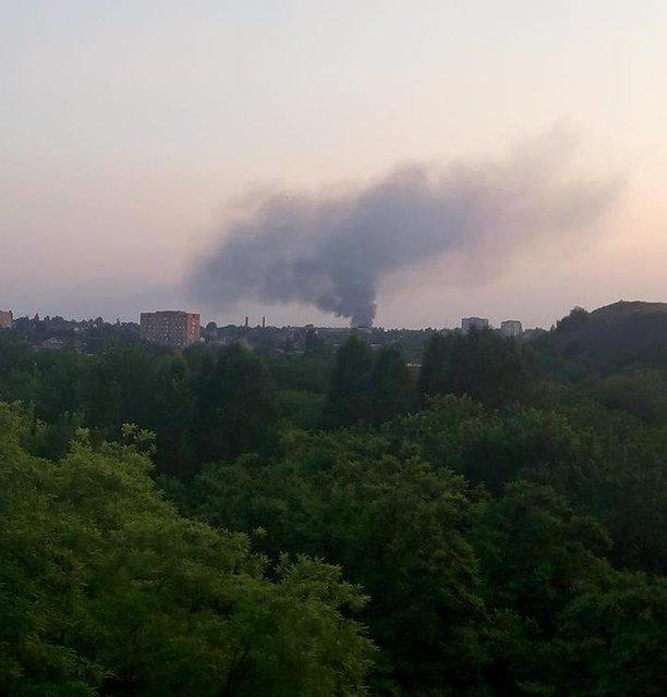 В оккупированном Донецке загорелась шахта (ФОТО) - фото 130845