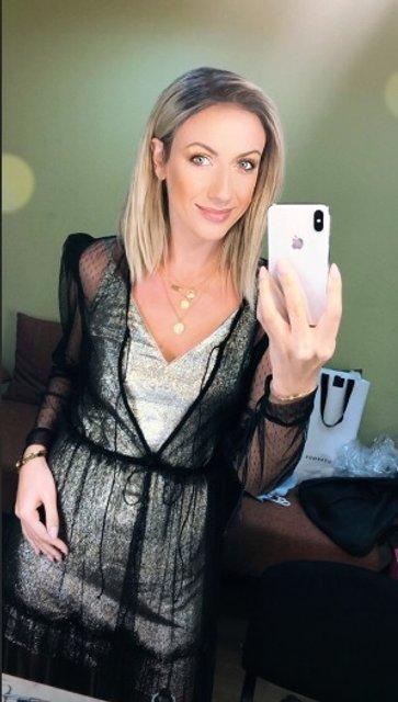 Леся Никитюк в прозрачном платье похвасталась длинными ножками - фото 131505