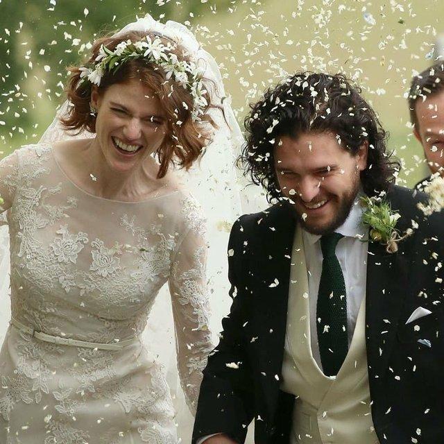 Кит Харингтон и Роуз Лесли поженились (ФОТО) - фото 132373