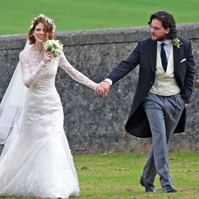 Кит Харингтон и Роуз Лесли поженились (ФОТО) - фото 132376