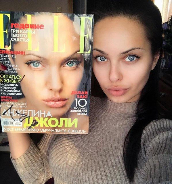 Анджелина Джоли показала своего российского двойника - фото 130406