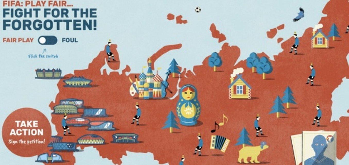 К открытию ЧМ-2018 европарламентарии показали карту РФ с тюрьмами для политзаключенных - фото 129299