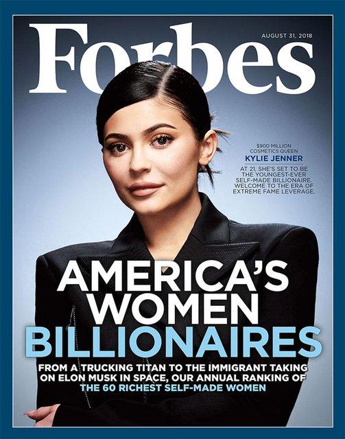 Кайли Дженнер украсила обложку Forbes - фото 135350