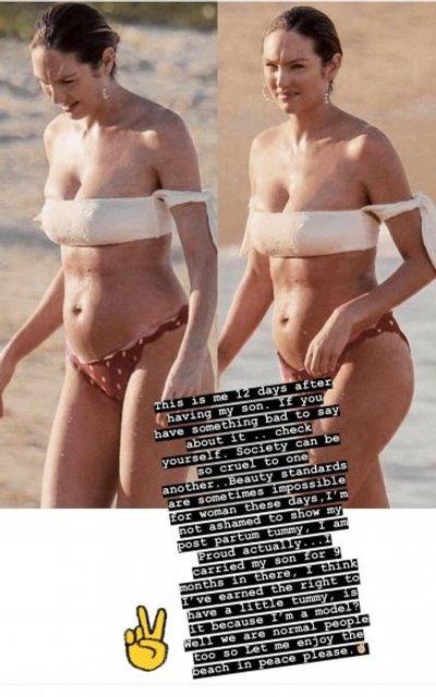 Не хочу скрывать свой живот: известная модель ответила на критику хейтеров - фото 135530