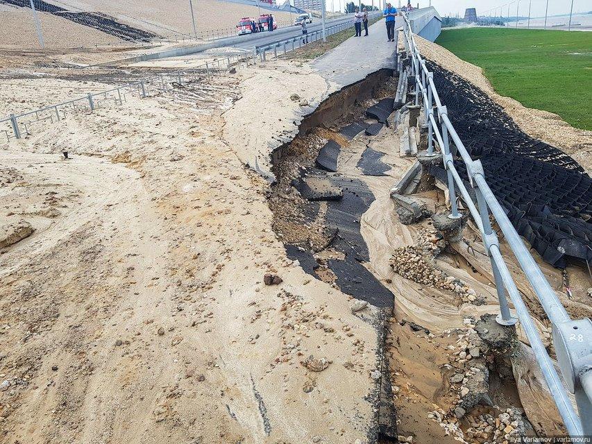 Это провал: построенный к ЧМ-2018 стадион смывает в Волгу (ФОТО+ВИДЕО) - фото 135947