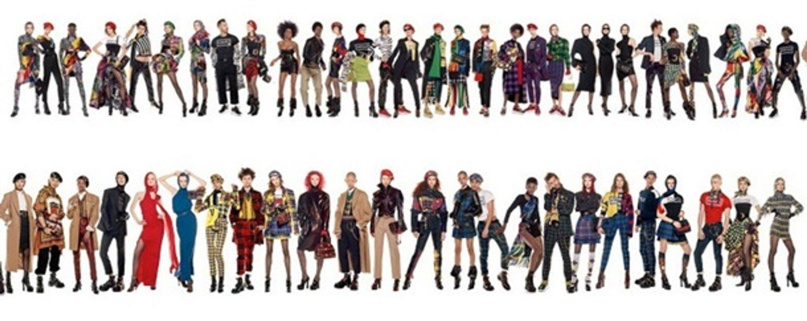 Versace сняли самую длинную фотографию в истории моды - фото 136982