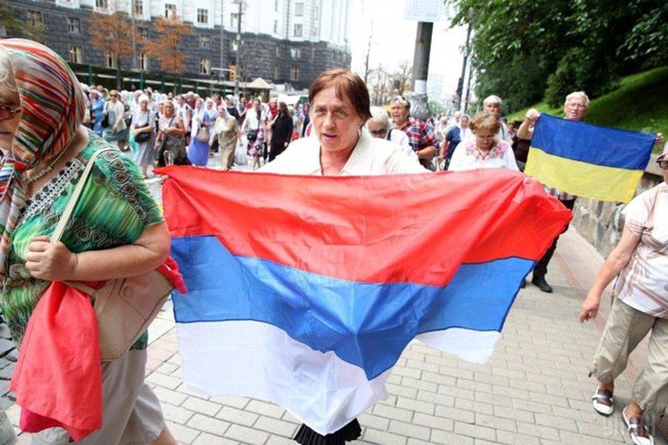 Как прошел крестный ход УПЦ МП: флаг России и портрет Гундяева (ФОТО) - фото 138116