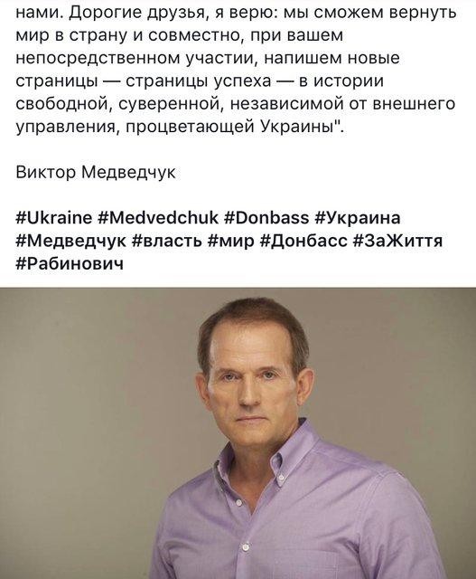 Кум Путина Медведчук будет баллотироваться в украинский парламент - фото 138348