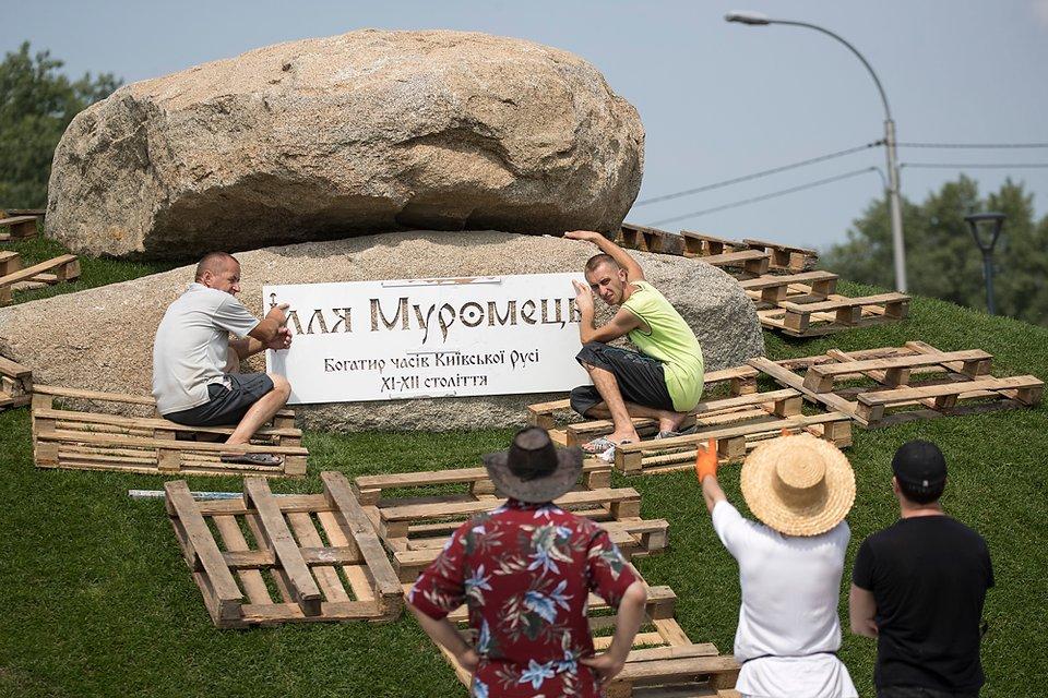 В Киеве откроют созданный на 3D-принтере памятник Илье Муромцу (фото, видео) - фото 138750