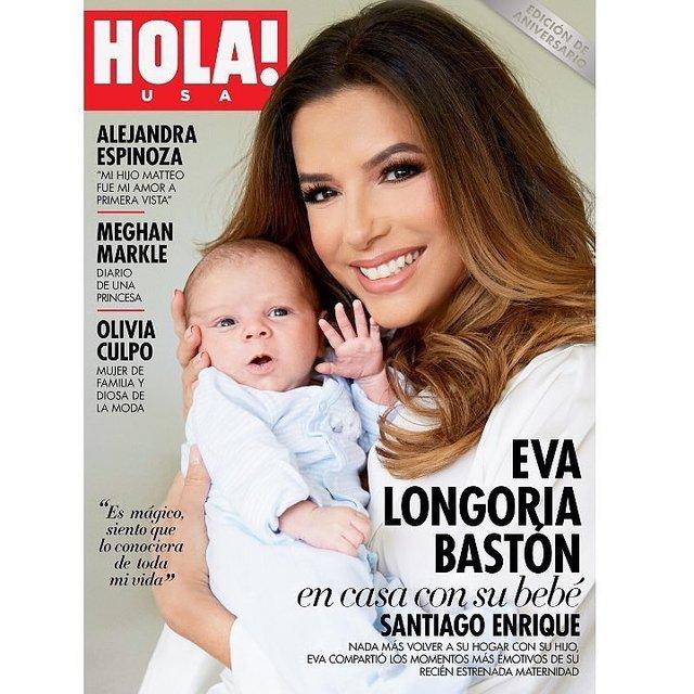 Ева Лонгория с новорожденным сыном появилась на обложке глянца - фото 138883