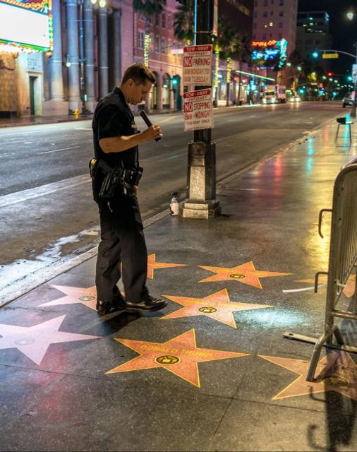 На Аллее славы в Голливуде появилось около 50 звезд в поддержку Трампа - фото 140654