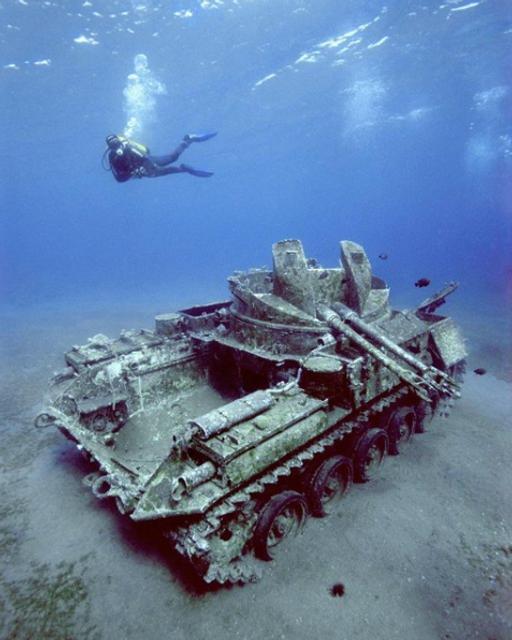 На дне океана дайверы обнаружили самолеты, корабли и танки (ФОТО) - фото 141950