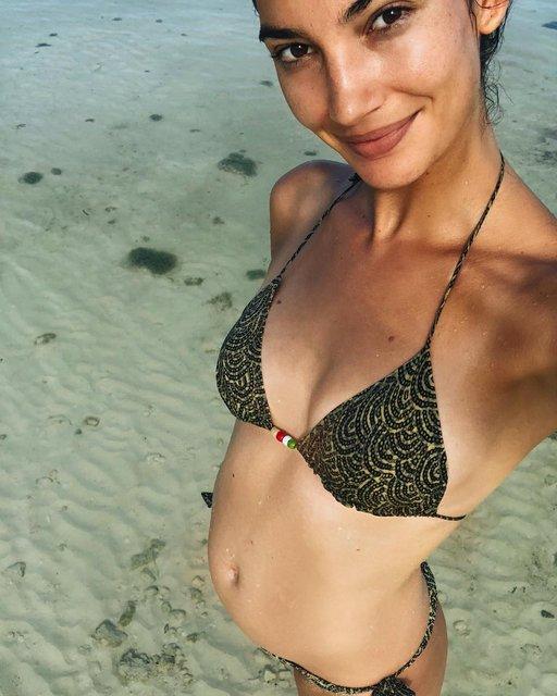 Модель Victoria's Secret Лили Олдридж беременна во второй раз - фото 142199