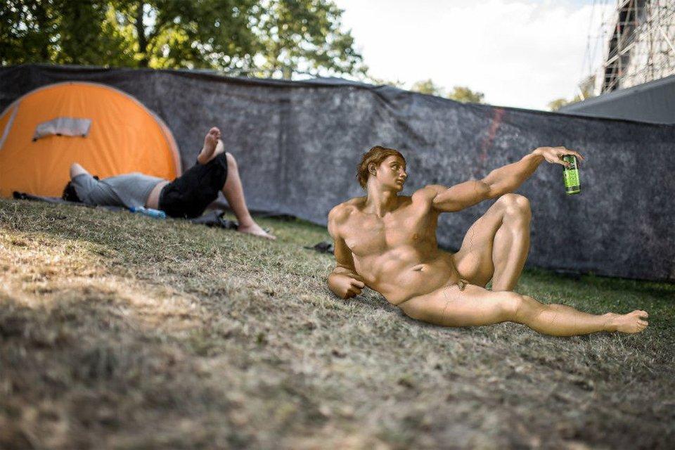 Sziget 2018: Герои картин  Да Винчи, Боттичелли, Микеланджело отдыхают на фестивале - фото 142609