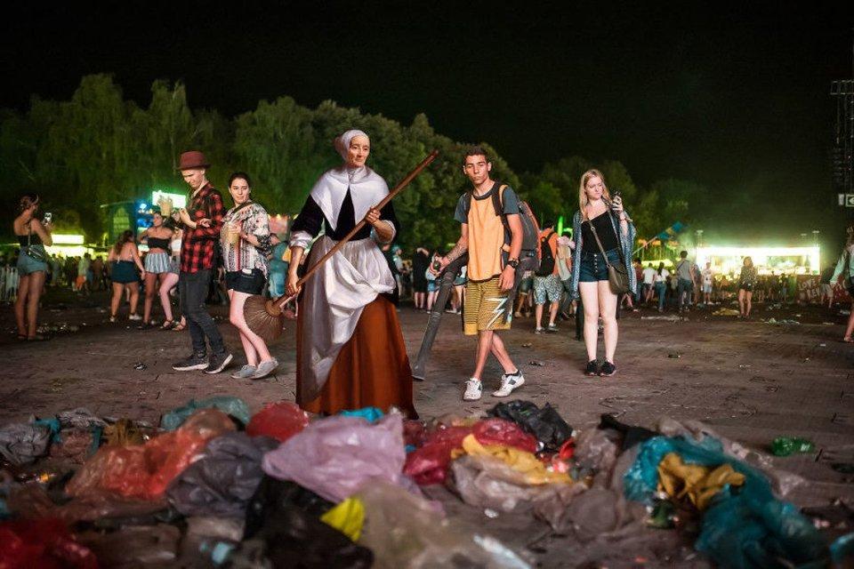 Sziget 2018: Герои картин  Да Винчи, Боттичелли, Микеланджело отдыхают на фестивале - фото 142613