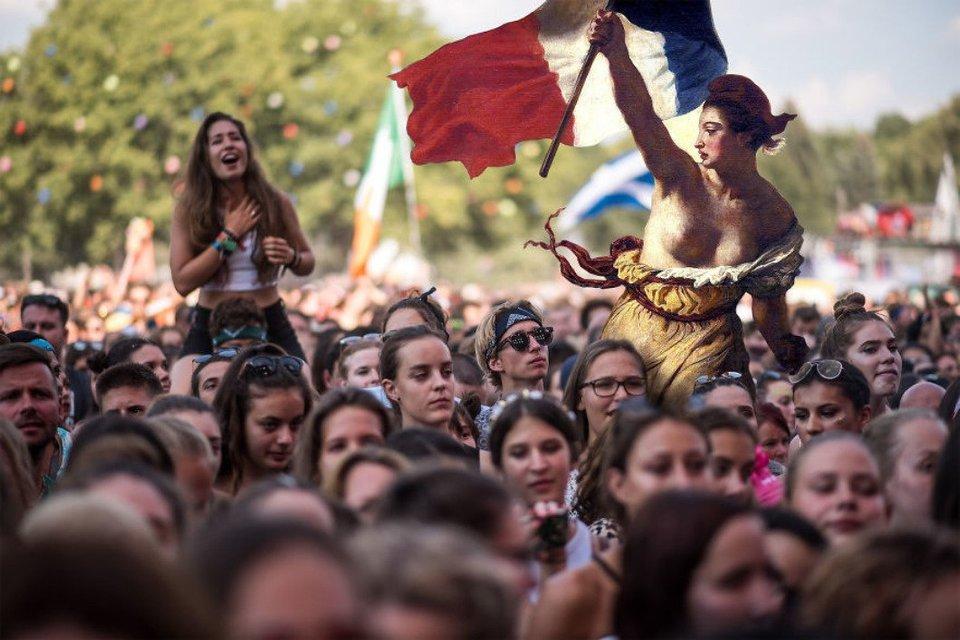 Sziget 2018: Герои картин  Да Винчи, Боттичелли, Микеланджело отдыхают на фестивале - фото 142614