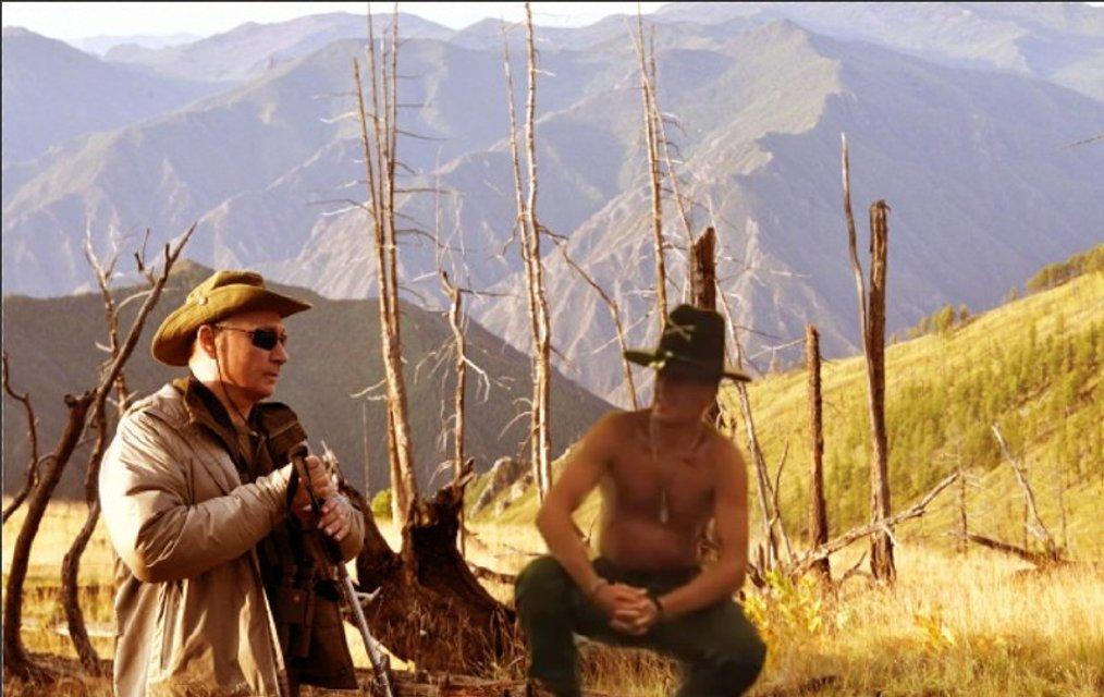 'Горбатая гора': дикая фотосессия Путина с Шойгу в народном творчестве (ФОТО) - фото 143530