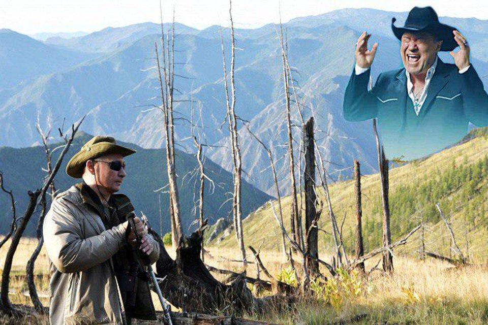 'Горбатая гора': дикая фотосессия Путина с Шойгу в народном творчестве (ФОТО) - фото 143534