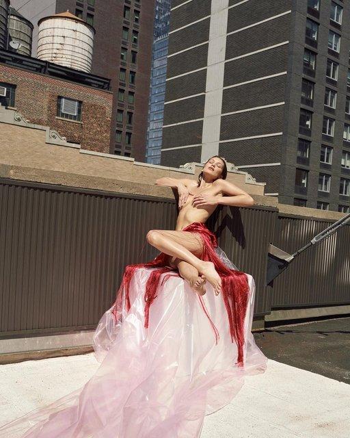 Голая Белла Хадид взбудоражила совершенными формами - фото 144046