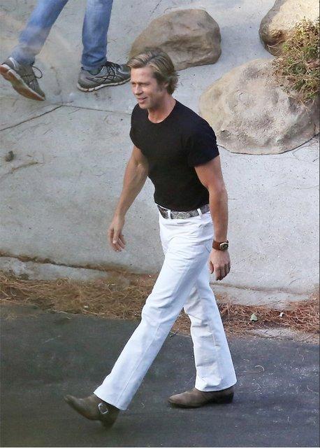 Однажды в Голливуде: Брэд Питт помолодел без Анджелины Джоли - фото 144390