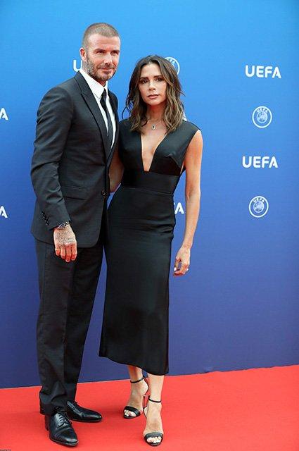 Виктория и Дэвид Бекхэм посетили жеребьевку Лиги чемпионов в Монако - фото 144469