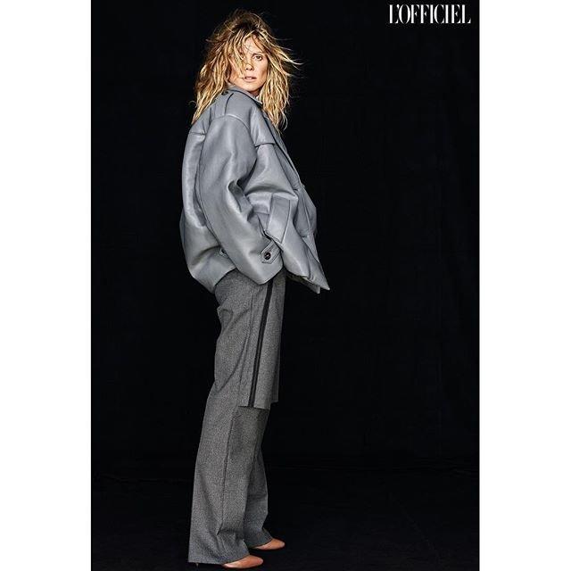 Хайди Клум снялась в стильных образах для украинского L'Officiel - фото 144783