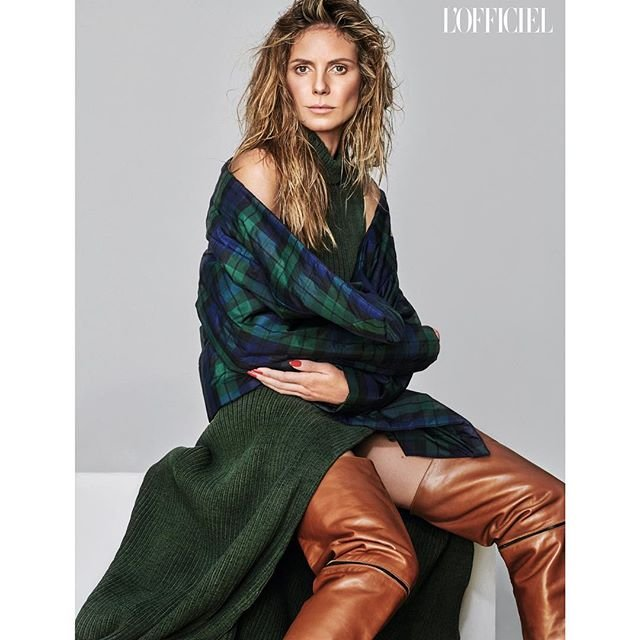 Хайди Клум снялась в стильных образах для украинского L'Officiel - фото 144787