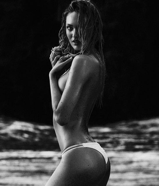 Кэндис Свейнпол топлес позировала на морском побережье - фото 144958