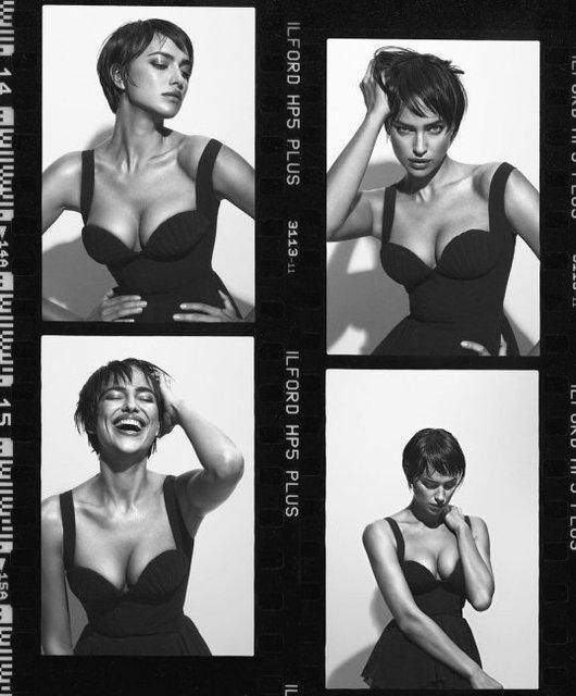 Обнаженная Ирина Шейк в объятиях испанского манекенщика украсила обложку глянца - фото 146630
