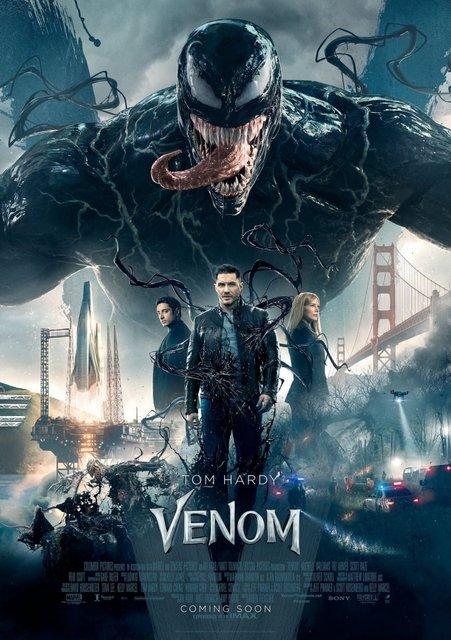 Веном: Том Харди на новом постере предстоящего фильма - фото 148316
