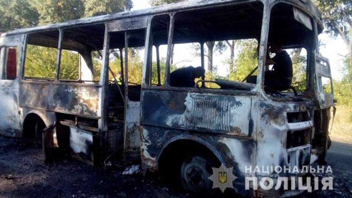В Сумской области прямо на ходу загорелся автобус с детьми (ФОТО) - фото 149126