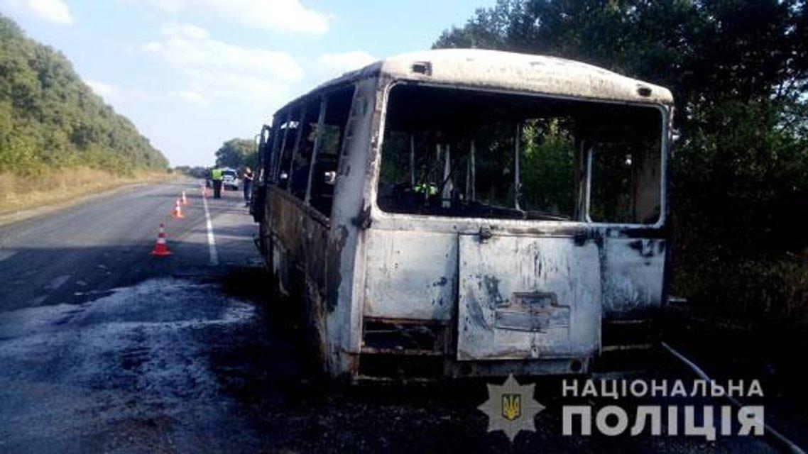 В Сумской области прямо на ходу загорелся автобус с детьми (ФОТО) - фото 149127