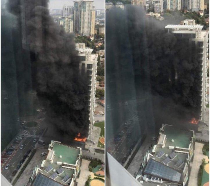 Горят Новопечерские Липки: элитная многоэтажка полностью охвачена дымом (ФОТО, ВИДЕО) - фото 150471