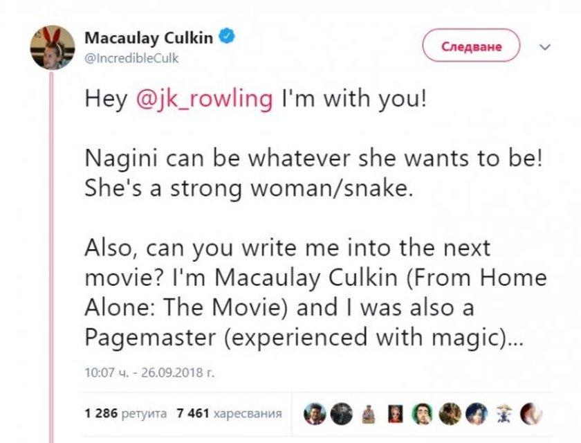 Маколей Калкин напросился в новую часть 'Фантастических тварей' - фото 150525