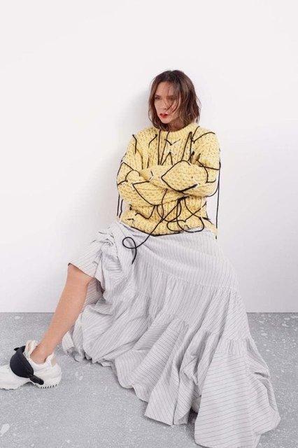 Виктория Бекхэм в странном наряде снялась для модного глянца - фото 153349