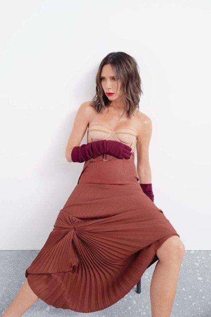Виктория Бекхэм в странном наряде снялась для модного глянца - фото 153351
