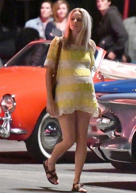 Однажды в Голливуде: Марго Робби в образе беременной Шэрон Тейт на новых фото - фото 153562