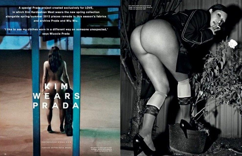Ким Кардашьян разделась для обложки модного глянца и рассказала о сексе и сексуальности - фото 154513
