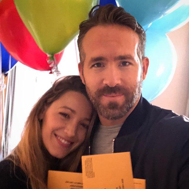 Как супруги Блейк Лайвли и Райан Рейнольдс отметили день рождения актера - фото 154943