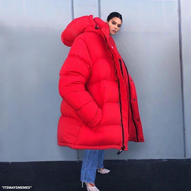 Зима близко: Кендалл Дженнер стала новым звездным мемом - фото 155469