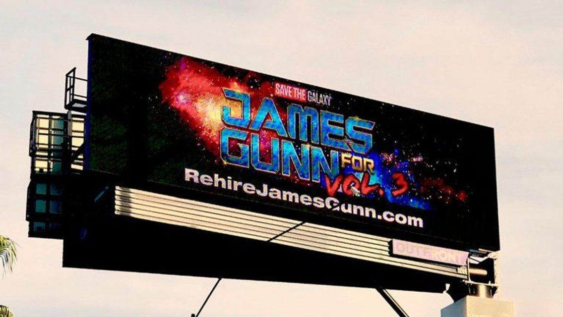 В Калифорнии появиля билборд с требованием вернуть Джеймса Ганна в 'Стражи галактики' - фото 156737